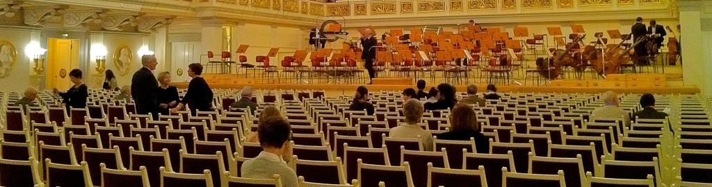 concierto musica clasica vacio, imagen recortada