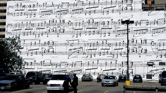 partitura en la  calle
