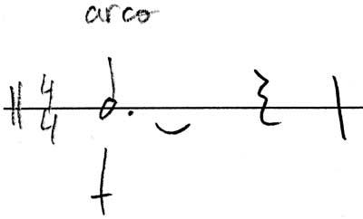 notacion plato suspendido con arco