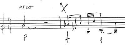 notacion vibrafono con arco