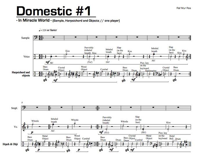 Primera página de Domestic 1, de Rafael Murillo