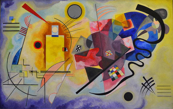 Yellow-red-blue de Kandinsky