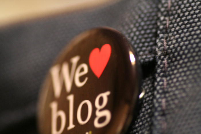Chapa de We love blog